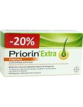 PRIORIN Extra συμπλήρωμα διατροφής για υγεία των Μαλλιών 60 Caps -20%