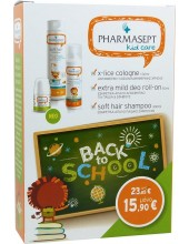 PHARMASEPT Kid Care with Soft Hair Shampoo 300ml + X-Lice Cologne 100ml + Extra Mild Deo Roll-on 50ml