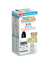 NeilMed Sinus Rinse Kids Starter Kit, 1 Squeeze Bottle with 30 Premixed Packets