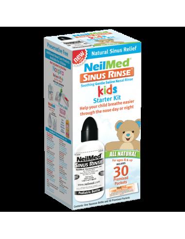 NeilMed Sinus Rinse Kids Starter Kit, 1 Squeeze Bottle with 30 Premixed Packets