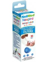 NeilMed Naspira Babies & Kids Nasal Aspirator Replacement 30 Filters