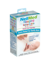NeilMed Naspira Babies & Kids Nasal Aspirator Set, 1 Aspirator, 7 Filters, 1 Netted Carrying Bag