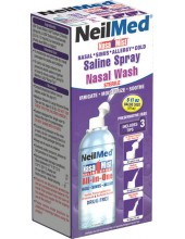 NeilMed Nasa Mist Saline Spray All In One Nasal Wash 177ml
