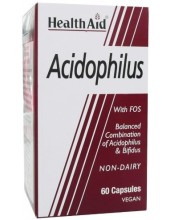 HEALTH AID Acidophilus with FOS, 60 Vegan Caps