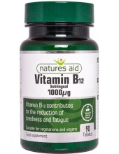 NATURES AID Vitamin B12 Sublingual 1000μg, 90 tabs