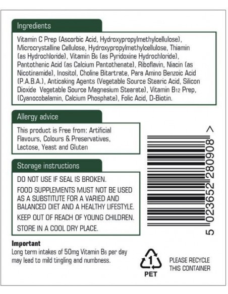 NATURES AID Vitamin B Complex 50 with Vitamin C, Time Release, 90 tabs
