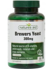NATURES AID Brewers Yeast 300mg, 500 tabs