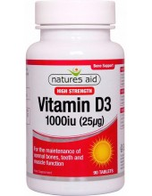 NATURES AID Vitamin D3 1000iu, 90 tabs