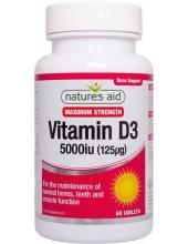 NATURES AID Vitamin D3 5000iu, 60 tabs