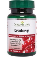 NATURES AID Cranberry 200mg (as 5000mg of dried Cranberries), 30 tabs