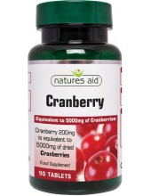 NATURES AID Cranberry 200mg (as 5000mg of dried Cranberries), 90 tabs