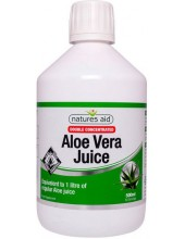 NATURES AID Aloe Vera Juice, Double Concentrated, 500ml