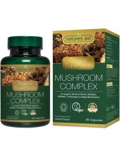 NATURES AID Organic Mushroom Complex, 60 caps