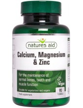 NATURES AID Calcium, Magnesium & Zinc, 90 tabs