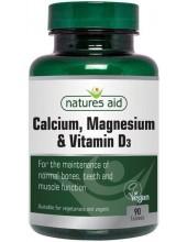 NATURES AID Calcium, Magnesium & Vitamin D3, 90 tabs