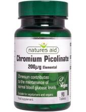 NATURES AID Chromium Picolinate 200μg, 90 tabs