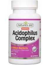 NATURES AID Acidophilus Complex 5 Billion Bacteria Probiotic, 60 caps