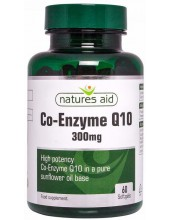 NATURES AID Co-Enzyme Q10 300mg, High Potency, 60 softgels