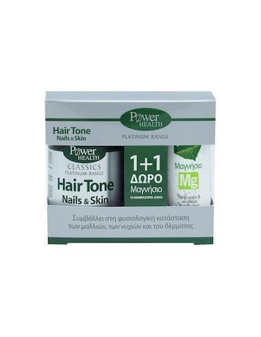 POWER HEALTH Classics Hair Tone Nails & Skin 30 caps + ΔΩΡΟ Μαγνήσιο 10 αναβράζοντα δισκία