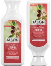JASON Long & Strong Jojoba Shampoo for Healthy Hair Growth 473ml & ΔΩΡΟ JASON Long & Strong Jojoba Conditioner 473ml