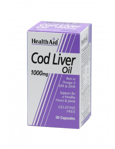 HEALTH AID Cod Liver Oil 1000mg 30 caps