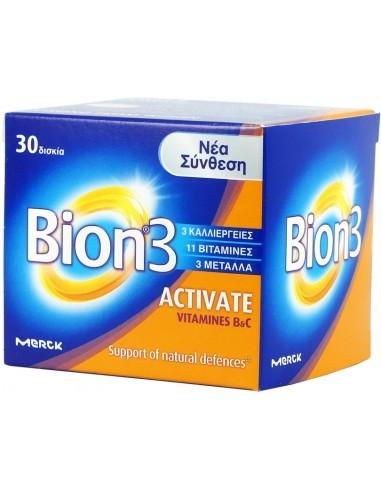 MERCK Bion 3 Activate για Ενήλικες 30 Tabs
