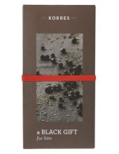 KORRES BLACK GIFT for Him, Black Pepper Cashmere Lemonwood with Eau de Toilette 50ml & Showergel 250ml