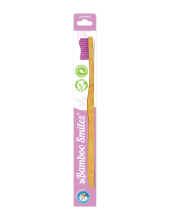 Bamboo Smiles Toothbrush Adults Soft Lila 1τεμάχιο