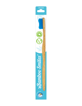 Bamboo Smiles Toothbrush Adults Soft Blue 1τεμάχιο