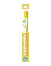 Bamboo Smiles Toothbrush Adults Medium Yellow 1τεμάχιο