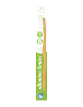 Bamboo Smiles Toothbrush Adults Medium White 1 τεμάχιο
