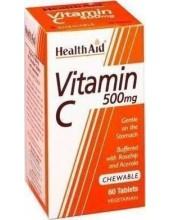 HEALTH AID Vitamin C Orange 500mg 60tabs Chewable