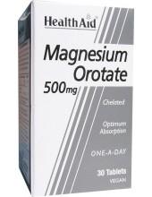 HEALTH AID Magnesium Orotate 500mg Chelated, 30 vegan tabs