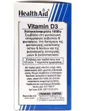 HEALTH AID Vitamin D3 1000iu, 120 vegeterian tabs