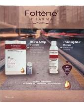 FOLTENE Hair & Scalp Treatment for Women 100ml (ampoules 12 x 8,3ml) & Shampoo Women 200ml