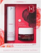KORRES SET 1+1 Wild Rose Brightening & First Wrinkles Day cream, Oily Skin 50ml + Sleeping Facial All Skin Types 50ml