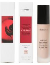 KORRES Wild Rose Foundation SPF25, WRF1, 30ml