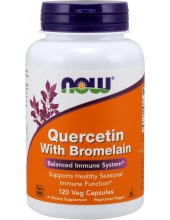 NOW Quercetin with Bromelain 120 Veg Caps