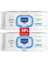 MUSTELA Cleansing Wipes 2x70 με ΕΚΠΤΩΣΗ 50% στο 2ο προϊόν