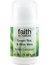 FAITH IN NATURE Green Tea & Aloe Vera Roll-on Deodorant 50ml