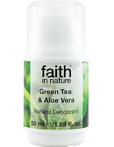 FAITH IN NATURE Green Tea & Aloe Vera Roll-on Deodorant 50ml