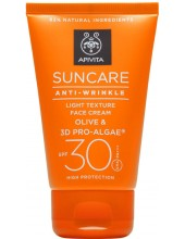 APIVITA Suncare Anti-Wrinkle Face Cream Olive & 3D Pro-Algae SPF30, 50ml