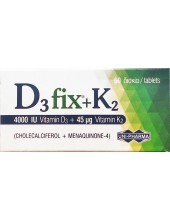 UNI-PHARMA D3 Fix 4000IU + K2 45μg, 60 Tabs