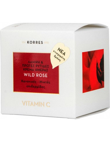 KORRES Wild Rose Cream Vitamin C 24h Normal Dry Skin 40ml