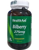 HEALTH AID Bilberry 275mg 30 Veg tabs