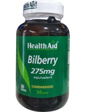 HEALTH AID Bilberry 275mg 30 Veg tabs