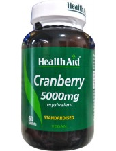 HEALTH AID Cranberry 500mg 60 Veg tabs