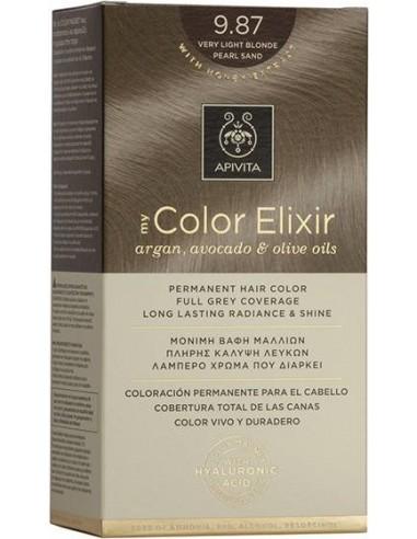 APIVITA my Color Elixir 9.87 Very Light Blonde Pearl Sand - Ξανθό Πολύ Ανοιχτό Περλέ Μπεζ