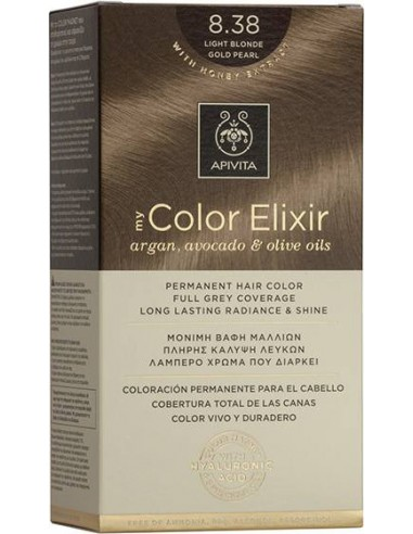 APIVITA my Color Elixir 8.38 Light Blonde Intense Pearl - Ξανθό Ανοιχτό Έντονο Περλέ