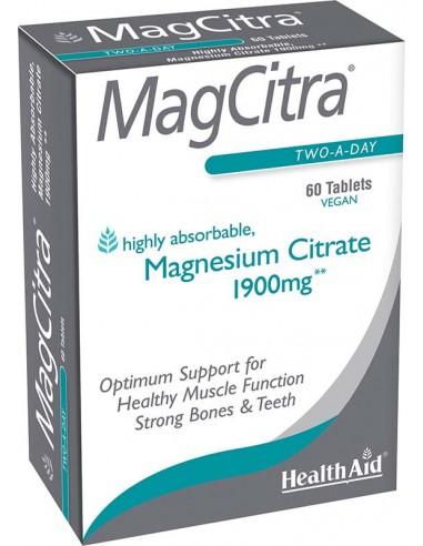 HEALTH AID MagCitra 1900mg, 60 Vegan Tabs